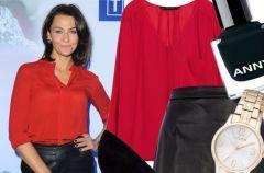 Stylizacja Anny Popek z czerwon� koszul�