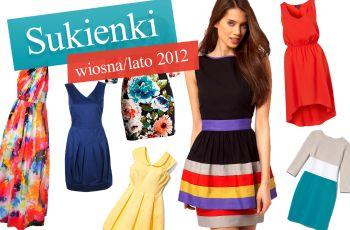 Modne sukienki - trendy wiosna/lato 2012