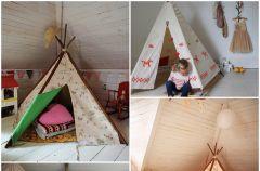 Namiot w pokoju dzieci�cym
