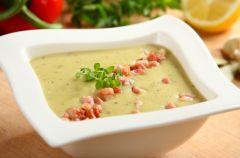 Zupa ziemniaczano - porowa z boczkiem