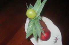 Palma z kabanosa i pora