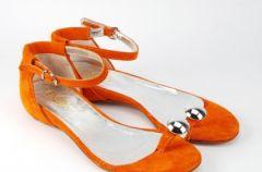 Pomara�czowe obuwie Venezia - kolekcja wiosna-lato 2009