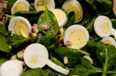 Jajko w szpinaku
