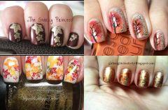 Manicure a la jesienne li�cie