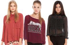 Koszule i bluzki Bershka na jesie� i zim� 2013/14