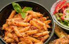 Makaron z pomidorami i mozarell�
