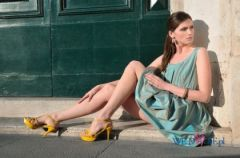 Joanna Horody�ska na plenerowej sesji Prima Moda