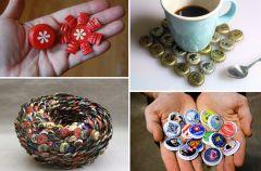 Designerskie dekoracje z kapsli i nakr�tek