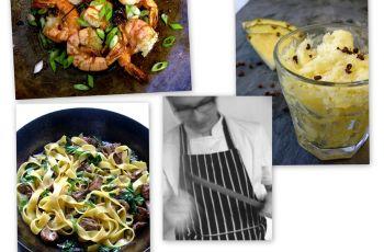 Krewetki, granita i fettuccine - przepisy kulinarne z bloga Eat after reading - dziki czosnek