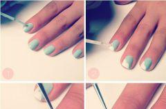Pomys� na manicure ze wst��eczk�