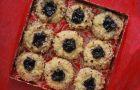 Orzechowe ciasteczka z oczkiem - przepis z bloga Przy kuchennym stole