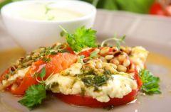 Pomidory z grilla z serem