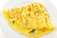 Omlet z bia�ka i jab�ka na parze