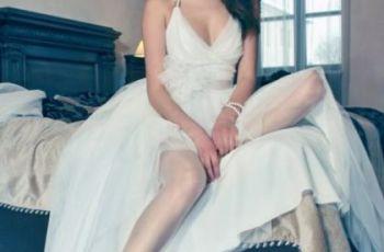 Kr�tkie suknie �lubne z trenem