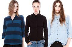 Koszule i bluzki Pull&Bear na jesie� i zim� 2013/14
