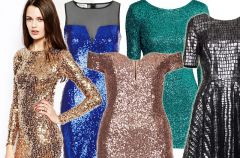 Cekinowe sukienki, sp�dnice i kombinezony na Sylwestra i karnawa�