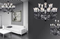 Nowoczesne kryszta�y - Lamp i Iris Cristal