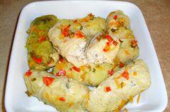 Go��bki  dietetyczne z  piersi kurczaka  z ry�em