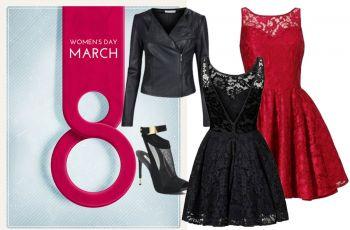 3 stylizacje z koronkow� sukienk� na Dzie� Kobiet
