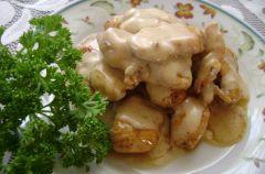 Filety z kurczaka w sosie �mietanowym