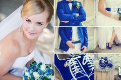 Niebieski kolor w stylizacji pary m�odej