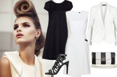 3 klasyczne, bia�o-czarne stylizacje