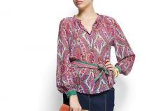 Bluzki Mango - moda wiosna/lato 2012