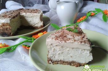 Sernik kasztanowy z kawow� piank�