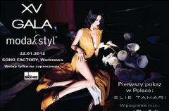 XV Gala Moda&Styl 22 stycznia w Soho Factory