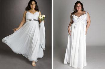 Suknie �lubne dla panien m�odych plus size - szerokie ramiona
