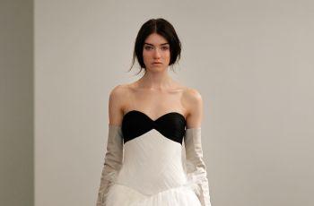 Bia�o-czarne suknie �lubne od Very Wang - wiosna 2014