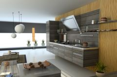 Salon z kuchni� jako wn�trze jednoprzestrzenne