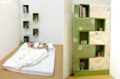 Z rega�u ��ko – Bookcase Into A Bed
