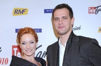 Czar par na gali Telekamer 2010 - �ona Marcina Da�ca