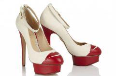 Nietypowe buty �lubne Charlotte Olympia