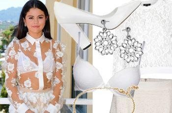 Selena Gomez w letnich koronkach i bieli