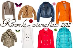 P�aszcze i kurtki damskie na sezon wiosna-lato 2012