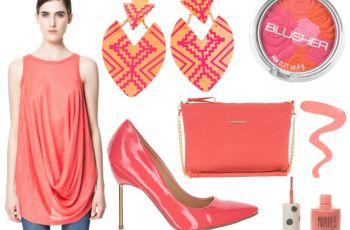 Koralowy - idealny kolor na wiosn� i lato 2013! - Cubus