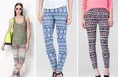 Wzorzyste legginsy - 3 modne desenie!