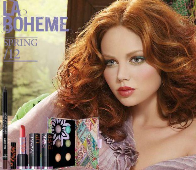 Trawiasta zieleń w makijażu - trendy 2012