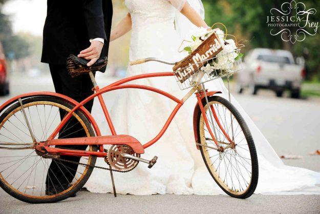 sesja zdjęciowa z rowerem