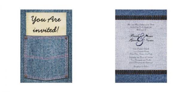 jeansowe zaproszenia