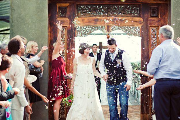Na ślubie w jeansach