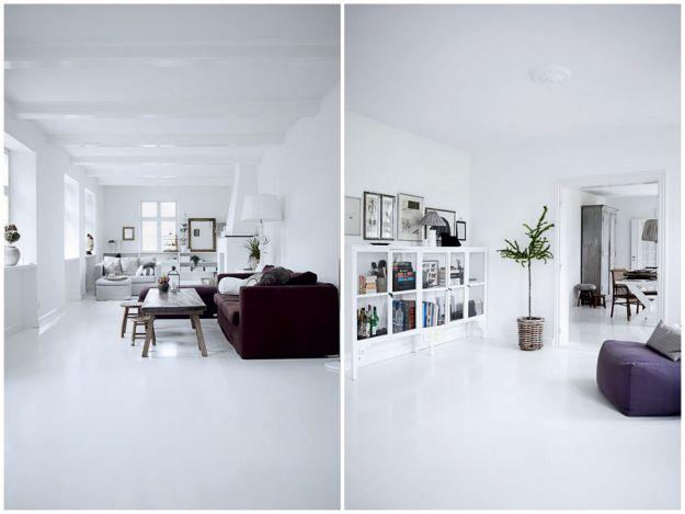 Śnieżne stylizacje mieszkania