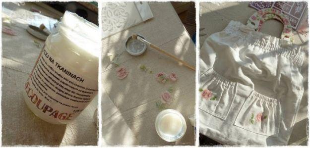 Jak zrobić coś z niczego, czyli decoupage na tkaninach