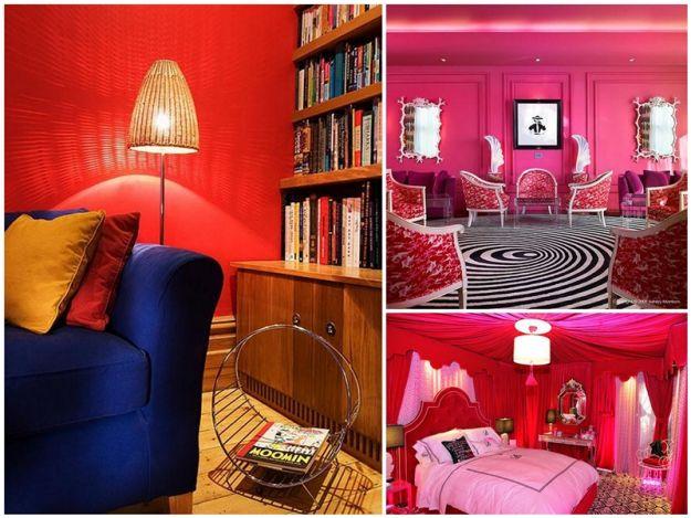 neonowa czerwień w mieszkaniu