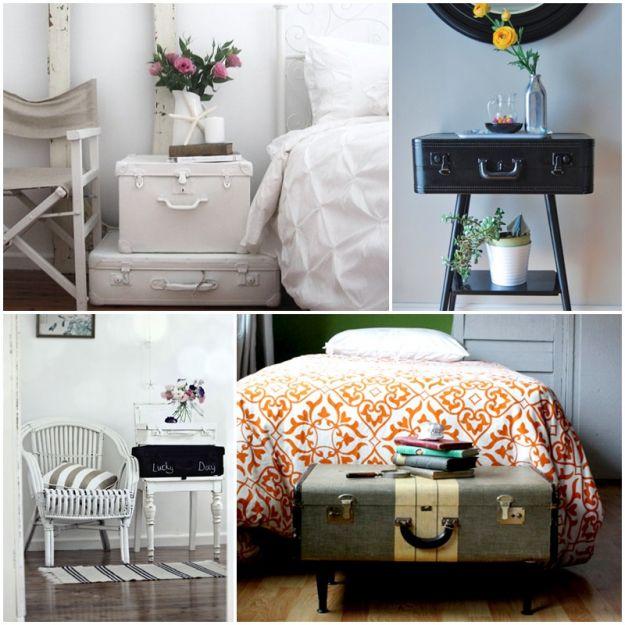 Pomysły na starą walizkę - DIY