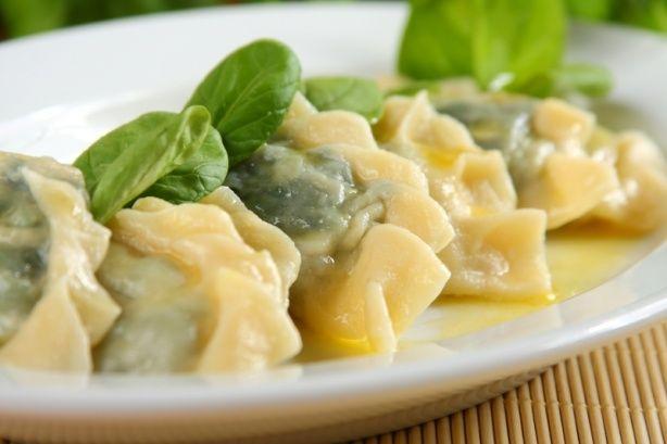 Pierogi z szpinakiem i serem feta