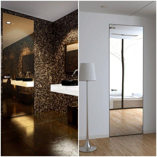 Nowoczesne drzwi zlicowane ze ścianą