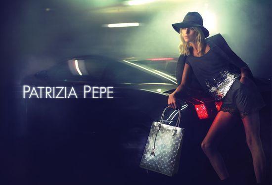 Anja Rubik w kampanii Patrizia Pepe na sezon jesień-zima 2012/2013